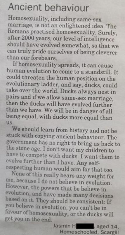 letter homophobia 2